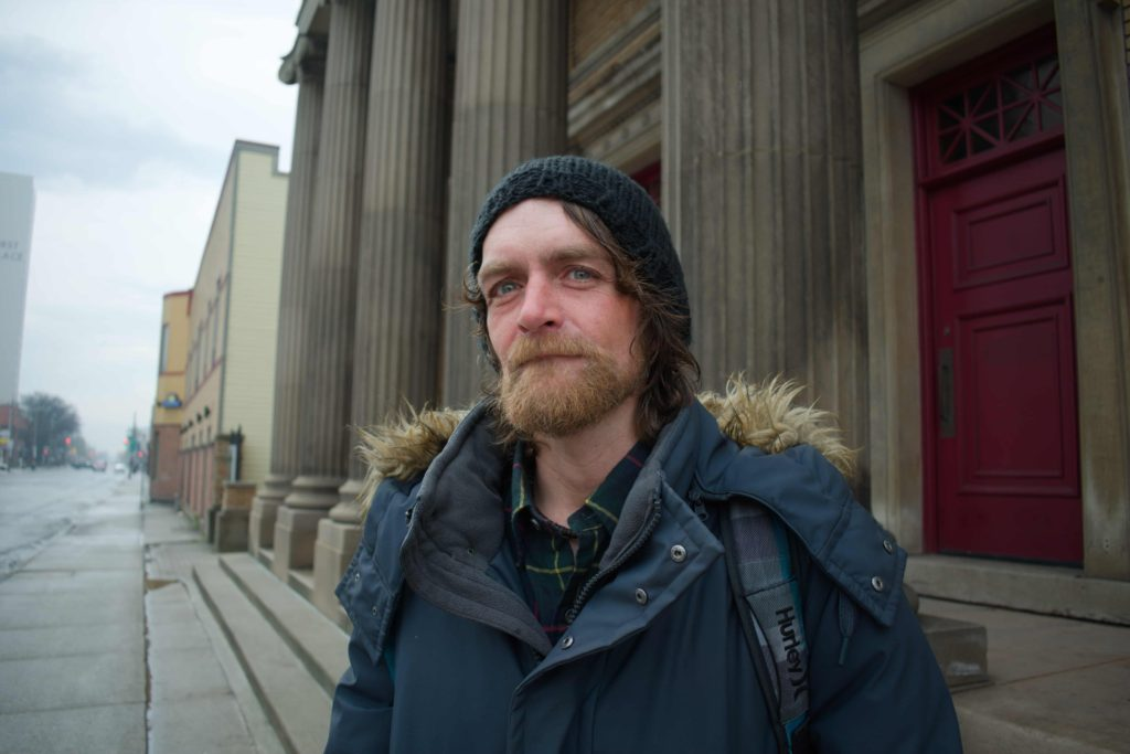 Daniel Schutt stands in front of his sobriety clinic